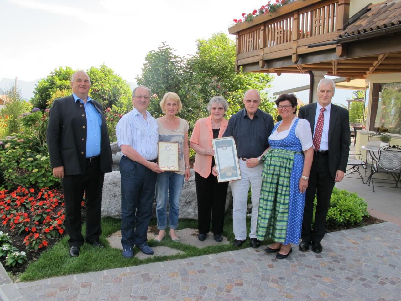 Zusammen 120 Jahre im Hotel Erzherzog Johann